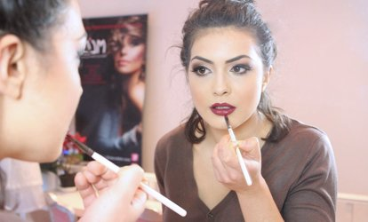 Three-Hour Make-Up Class with Lipstick and Face Charts at Make-Up London Academy (Up to 87% Off)