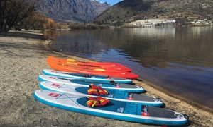 Watersports Queenstown: From $15 for Single or Double Kayak, SUP Board or Aqua Bike Hire at Watersports Queenstown (Up to $60 Value)