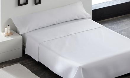 Set de sábana encimera, bajera y 1 o 2 fundas de almohada 100% algodón