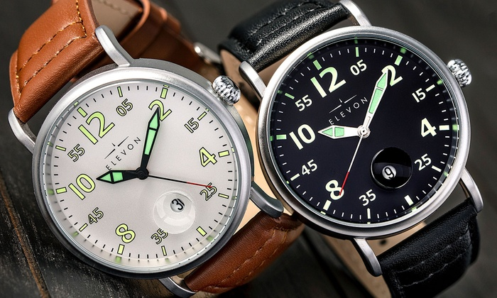 56f6609ea Up To 80% Off on Elevon Men's Watches Collection | Groupon Goods
