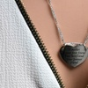 Pink Box Mother's Day Engraved Heart Necklace in Stainless Steel