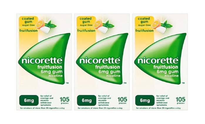 Nicorette 6mg Fruit Fusion Chewing Gums from £9.99 With Free Delivery (Up to 56% Off)