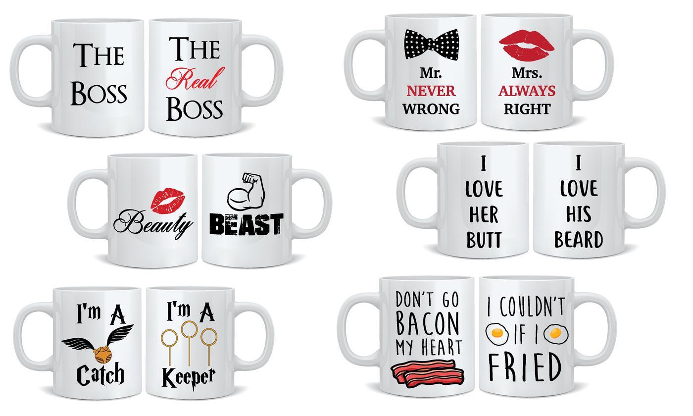 Mr and Mrs Two-Piece Mug Set
