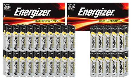 10 à 60 Piles Energizer Industrial AA et AAA