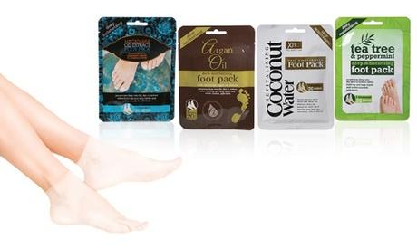 Fino a 6 paia di calzini esfolianti in confezioni monouso per l'idratazione profonda dei piedi