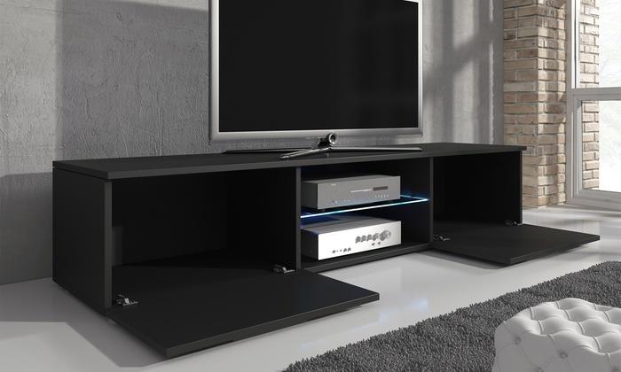 meuble tv avec led groupon. Black Bedroom Furniture Sets. Home Design Ideas