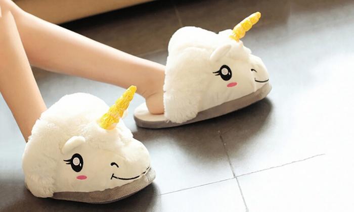 4beec78870d58 Women's Unicorn Slippers   Groupon