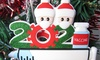 One, Two or Four 2021 Family Christmas Decorations