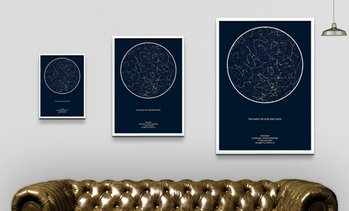 Personalised Night Sky Star Map