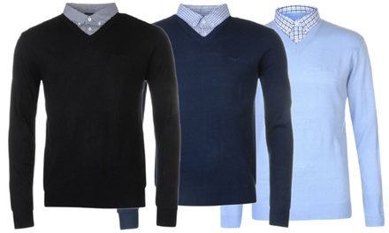 Pull col V Pierre Cardin pour homme