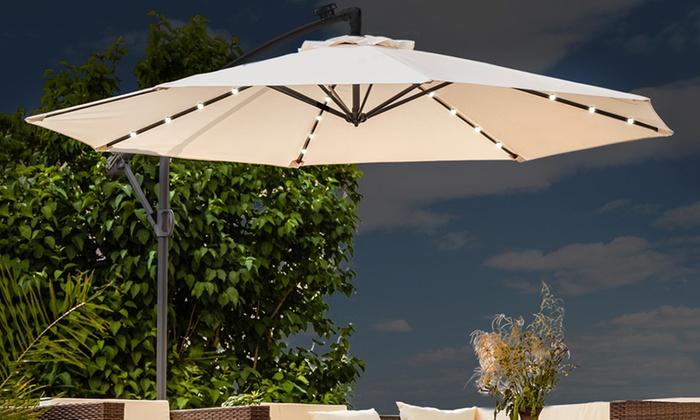 jusqu'à 48% parasol de terrasse éclairage led | groupon