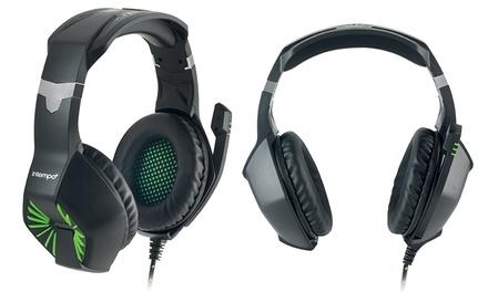Cascos de gaming interactivos Intempo con micrófono y cancelación de ruido