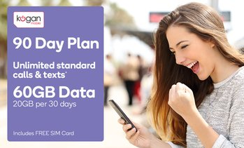 7c5138e1253a 40% OFF · image placeholder Kogan Mobile  90-Day Prepaid Offer