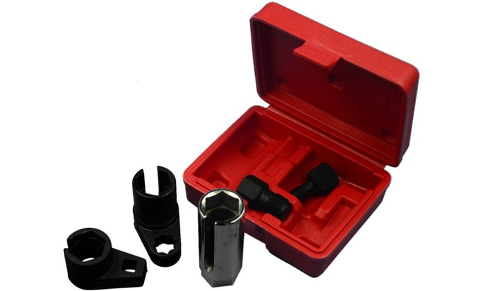 Vehicle Oxygen Sensor Socket Wrench and Thread Chaser Set (5-Piece)
