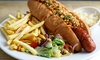 Steingarten Bar Restaurant - Southampton: Sausage in Bun with German House Beer for Two at Steingarten Bar and Restaurant (Up to 45% Off)