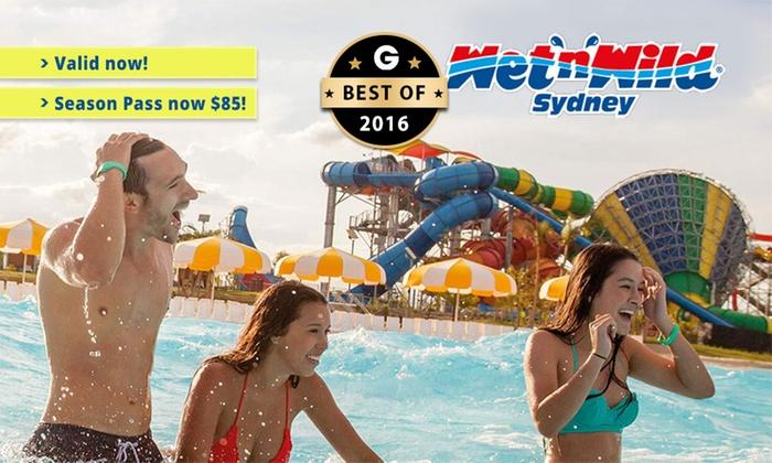 Wet'n'Wild Sydney - Wet'n'Wild Sydney: Wet'n'Wild Sydney: Season Pass ($85) or Premium Season Pass ($99.99) (Up to $130 Value)