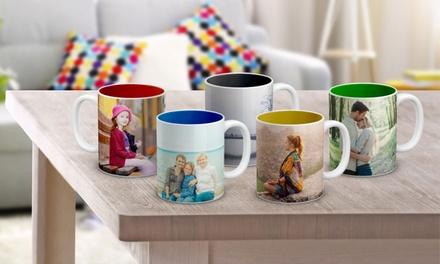 1 o 2 tazas con foto personalizable y diferentes opciones con Photo Gift (hasta 84% de descuento)