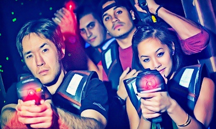 Laser Voyage Cafe - Suwanee-Duluth: Laser-Tag and Arcade Package for Four or Six at Laser Voyage Cafe (Up to 67% Off). Two Options Available.