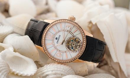Montre automatique Empress Valois semi-squelette, bracelet en cuir, coloris au choix, à 129€ (90% de réduction)