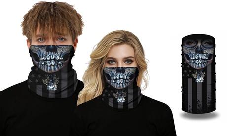 1, 2, 3 o 4 máscaras de bicicleta unisex con estampado calavera