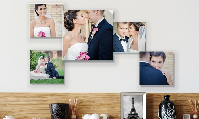 Custom Photo to Acrylic Glass: Three-, Five-, or Six-Piece Personalized Acrylic Glass Collage from Pixtac (Up to 81% Off)
