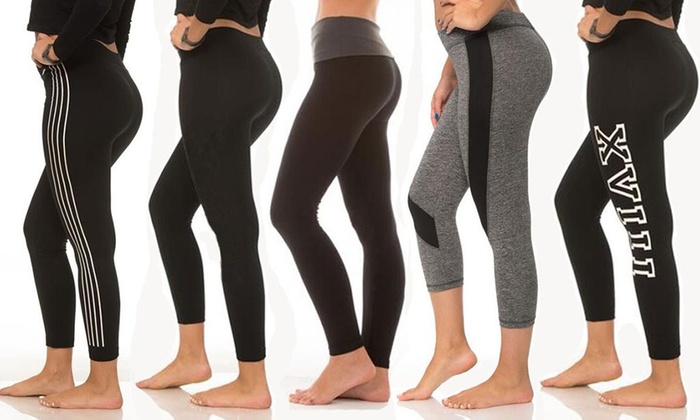 917f841d08 Up To 83% Off on Yoga Pants Mystery Deal (5-Pack) | Groupon Goods