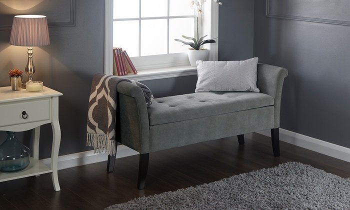 Buttoned Window Seat with Storage