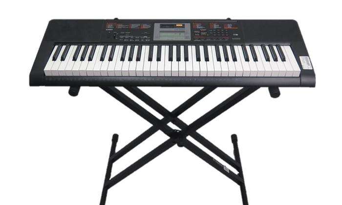 Casio Keyboard With Stand : casio 61 key portable keyboard with stand groupon ~ Hamham.info Haus und Dekorationen