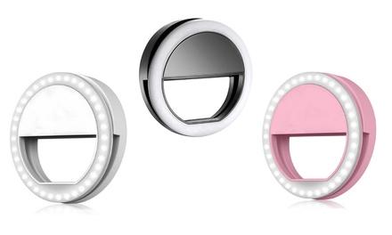 1 o 2 anillos LED con clip para selfie