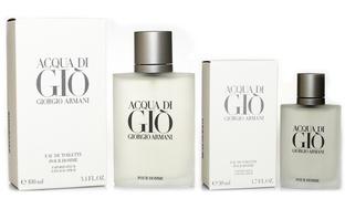 Giorgio Armani Acqua Di Gio Men's EDT Spray (3.4 Fl Oz & 1.7 Fl Oz)