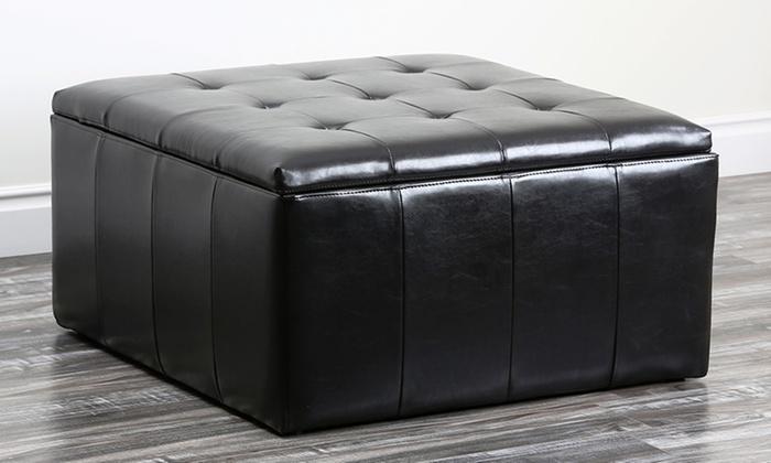 Astounding Abbyson Living Storage Ottoman Groupon Goods Creativecarmelina Interior Chair Design Creativecarmelinacom