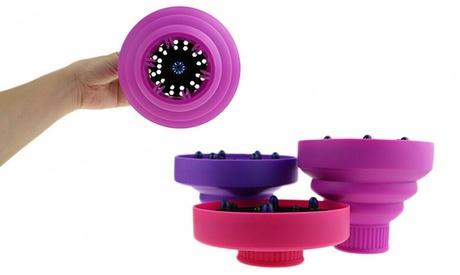 Diffusore universale per phon asciugacapelli in silicone pieghevole da viaggio