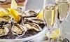 Menu con ostriche e champagne