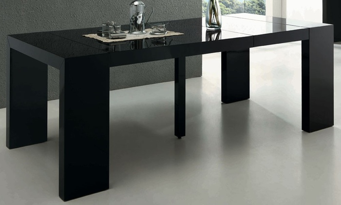 Table Console Extensible Laquee Nassau Groupon Shopping