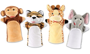 Talking Jungle or Farm Animal Hand Puppets (4-Piece)