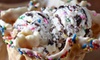 Marble Slab Creamery Strawberry Hill - Strawberry Hill: Ice Cream, Two Medium Cones & Mix-Ins, or a Large Layered Ice Cream Cake at Marble Slab Creamery (Up to 43% Off)