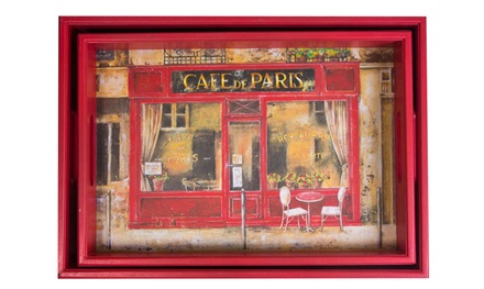 Cafe de Paris Nesting Wood Serving Tray Set (2-Piece)
