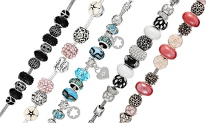 (Bijou)  Bracelets charms cristaux Swarovski® -62% réduction