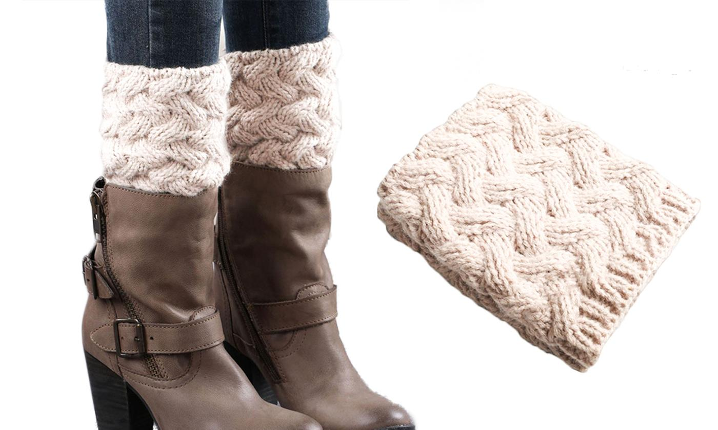 One Pair of Knitted Leg Boot Warmers