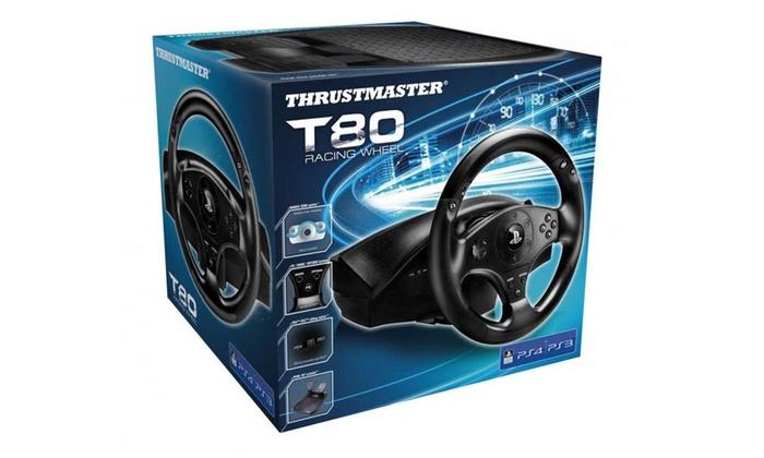 Groupon Goods Global GmbH: Volante compatibile per PS3 e PS4 Thrustmater T80 a 84,90 € (35% di sconto)