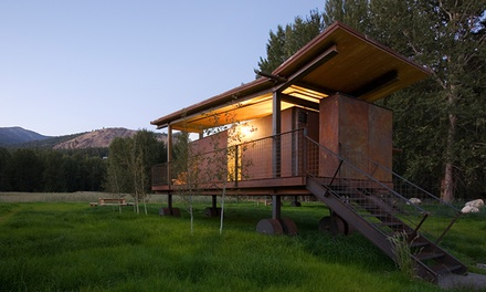 Stay at Rolling Huts and Methow Tents in Winthrop, WA. Dates into April.