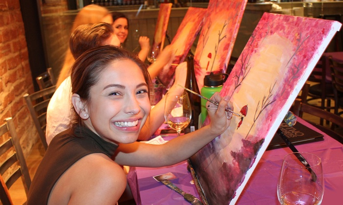 Painting with Canvas - Multiple Locations: 2.5-Hour Painting Class for Two or Four at Painting with Canvas (Up to $ Off)