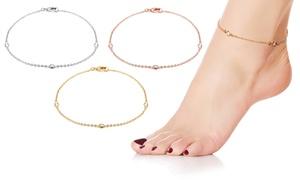 (Exclusive)  Bracelet cheville cristaux Swarovski® -87% réduction