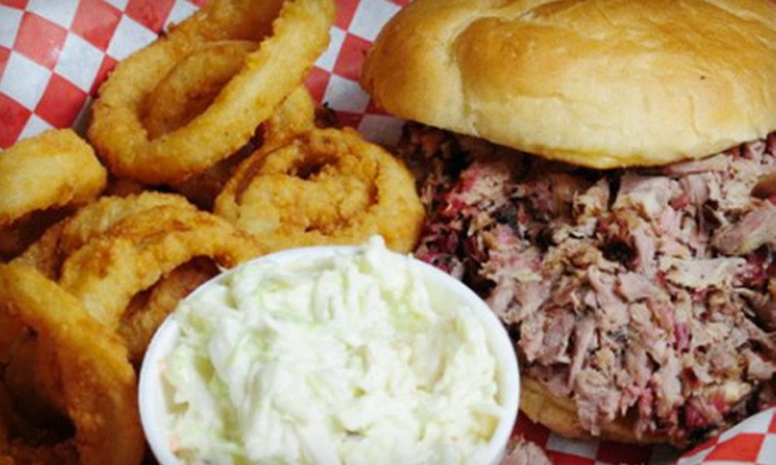 Sawmill BBQ - Cahokia: Barbecue Combo Platter for Two or Four at Sawmill BBQ (Up to 56% Off)