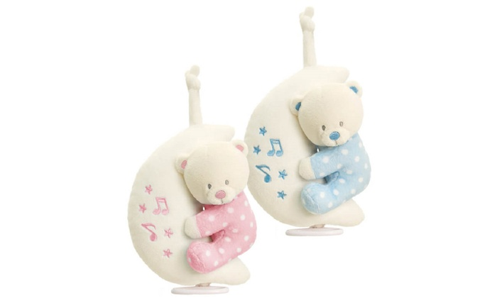 One or Two Keel Toys Assorted Baby Teddy Bears on Musical Moon