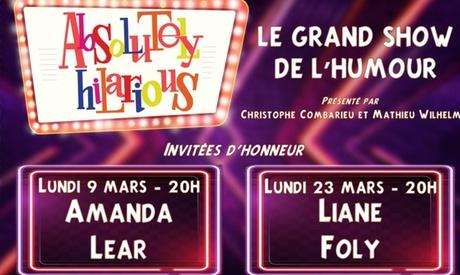 1 place en catégorie 1, 2 ou 3 pour « Absolutely Hilarious », les lundis 9 et 23 mars 2020 à 20h dès 9€ à Paris
