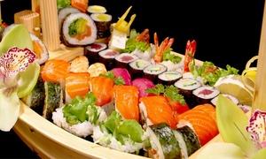 Sushi @ Rubens: Miso soep en een sushiboot voor 2 of 4 personen bij Sushi @ Rubens in Knokke