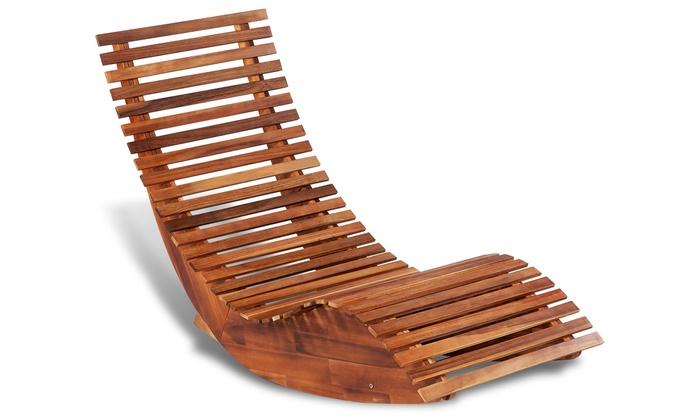 Sedie A Dondolo In Legno Per Bambini : Sedia a sdraio a dondolo in legno groupon