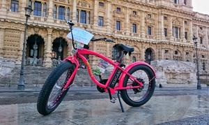 ELetrik bike Roma: Tour guidato di Roma o noleggio bici elettrica con l'associazione ELetrik bike Roma (sconto fino a 64%).Valido in 2 sedi