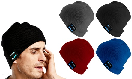 29350828633 Up To 62% Off Wireless Headphone Beanie Hat | Groupon